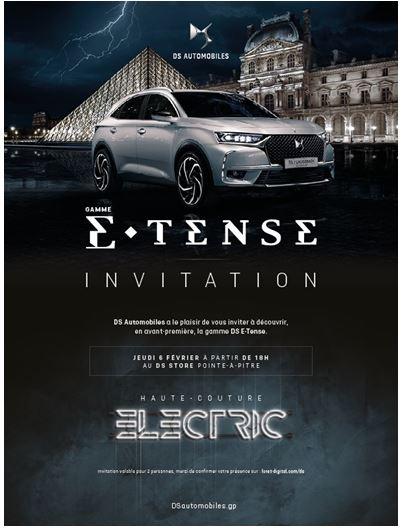 Découvre en avant première la gamme de véhicules électriques DS E-TENSE