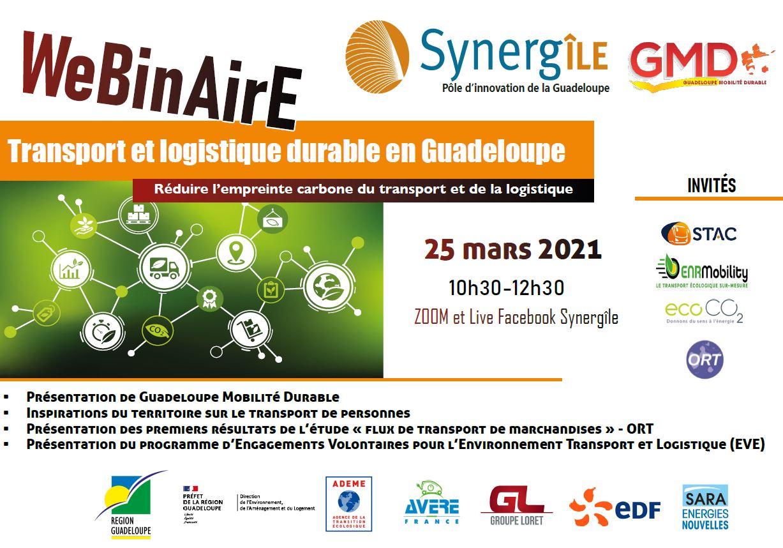 Webinaire transport et logistique durable en Guadeloupe